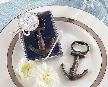 Mejores 20 imgenes de destapadores en pinterest bodas bodas abridor metalico con forma de ancla y presentado en caja de regalo azul y blanca con tapa transparente y decorada con cordon blanco y etiqueta fandeluxe Images
