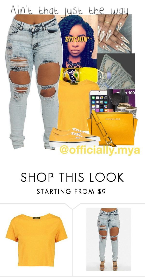"""""""Pineapple"""" by officially-mya ❤ liked on Polyvore featuring Boohoo and Vans"""