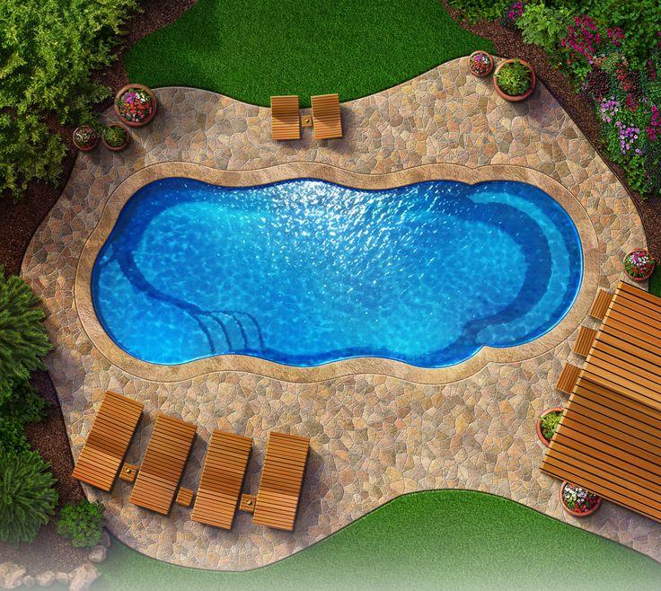 Crescent Cove Fiberglass Pool Kits Gardening Outdoors