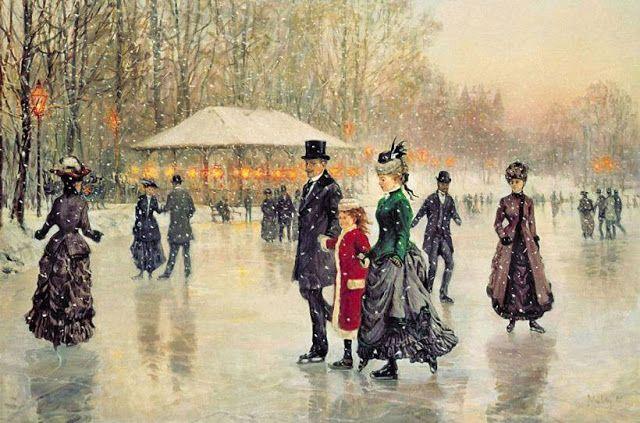 Painterlog.com: THEMED PAINTINGS - Ice skating