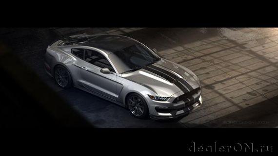 Ford Shelby GT350 Mustang 2015 / Форд Шелби GT350 Мустанг 2015 – вид сверху