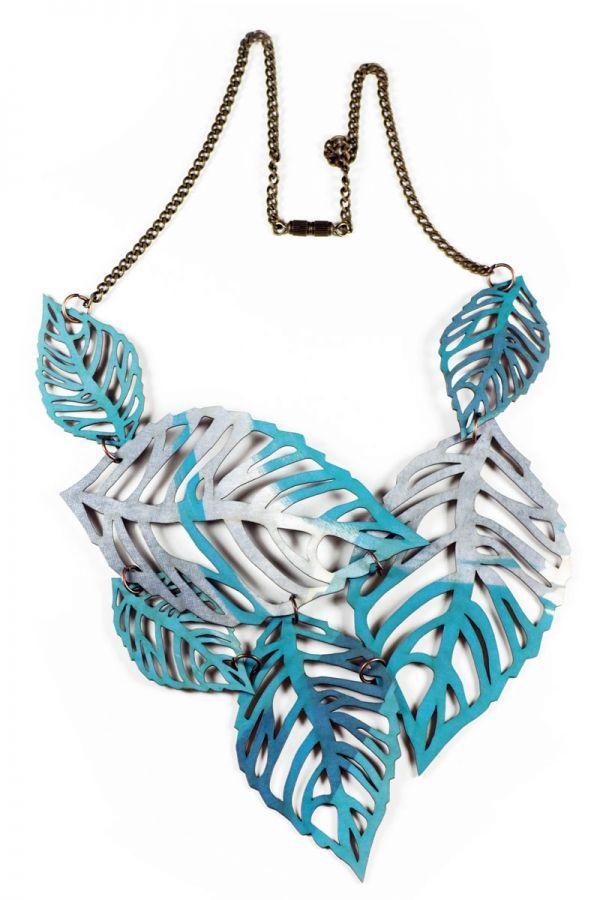Joyas de papel Basic Collar Hojas | Joyas de Papel / joyasdepapel.com #artesaniadegalicia