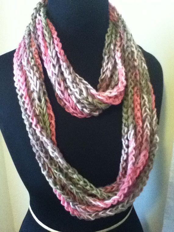Free Shipping: Pink, Khaki, & Green Infinity Scarf