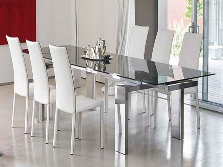 dining room tables glass top round white table modern sets and chairs with black base