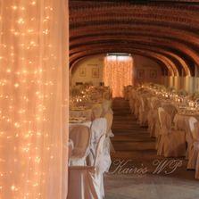 Tende luminose per allestimento sala da pranzo matrimonio   Wedding designer & planner Monia Re - www.moniare.com   Organizzazione e pianificazione Kairòs Eventi -www.kairoseventi.it