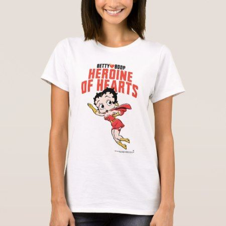 Betty Boop | Heroine of Hearts Flying Pose T-Shirt - tap to personalize and get yours