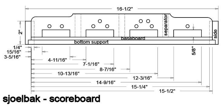 sjoelbak (shuffleboard) dutch game board plans - Google Search