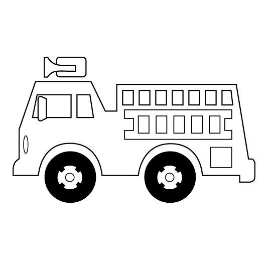 firetruck outline