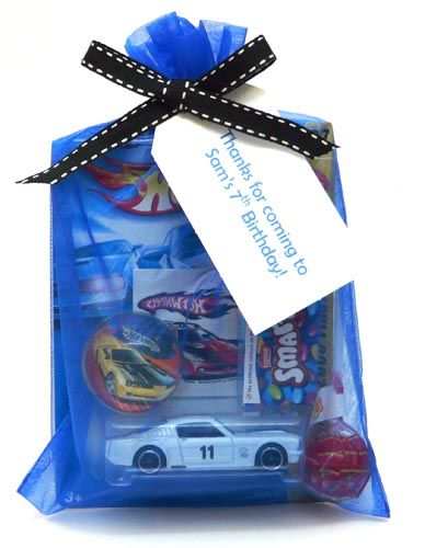 Hot Wheels party treat
