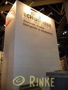 Echostreek 2011 tekst en logo's direct op paneel i.v.m. slechte hechting direct op wand.