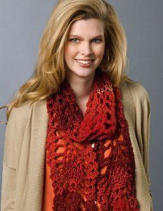 Crochet scarf patterns are great because you can make a scarf for any time of year no matter what the season. With this Red Heart pattern you can make a Lacy Pineapple Scarf for yourself or a friend. It's an easy crochet pattern you'll adore.