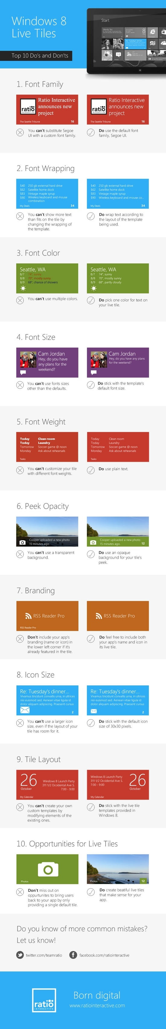 Windows 8 Live Tiles: Top 10 Do's and Don'ts