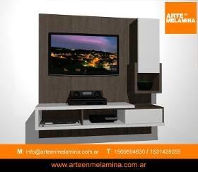 Mueble De Tv Led Lcd Rack Moderno Arte En Melamina 160x170