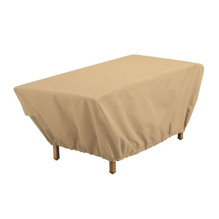 Classic Accessories Terrazzo® Rectangular Patio Coffee Table Cover   All  Weather Protection Outdoor Furniture Cover