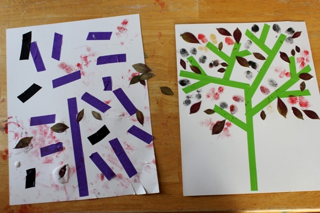 Masking tape trees with leaves glued on or stamped on. Great after school art!Fall Leaves, Media Autumn, Mixed Media, Masks Tape, Fall Leaf, Leaf Art, Autumn Trees, Art Projects, Masking Tape
