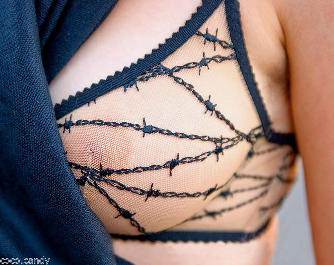 Agent Provocateur barbed wire tattoo BRA new 34B maschina #AgentProvocateur #FullCoverageBras #Glamour