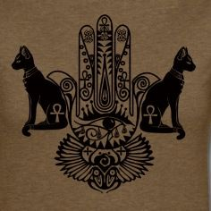 Egyptian Hand Of Fatima, Devine cats, Ankh, inguz xx, horus eye, Scarab...