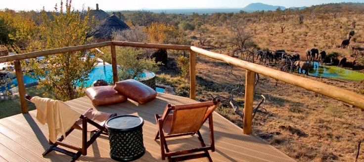 Royal Madikwe Safari Lodge Royal Madikwe caters for small groups of up to 10 people and is luxuriously designed. The lodge overlooks a waterhole and the flexible meal and safari times allow for a completely leisurely safari experience.