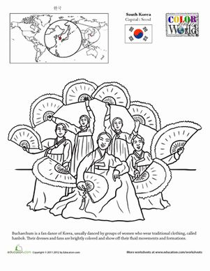 54 best Korean Coloring Pages images on Pinterest Colouring