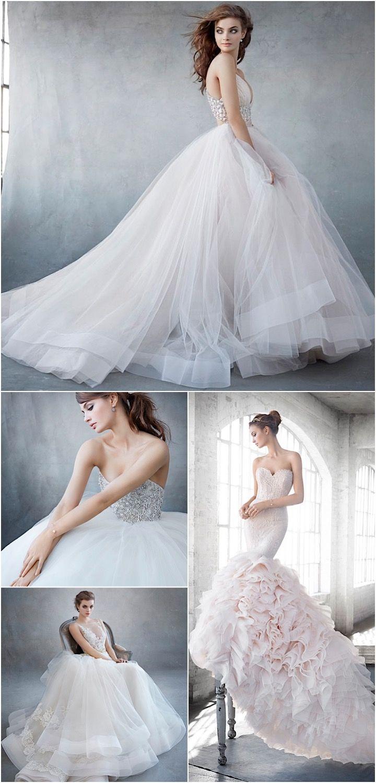 Spectacularly striking Lazaro wedding dresses.
