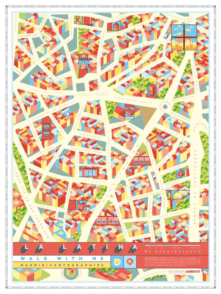 PÓSTER LA LATINA - Walk with me maps of Madrid