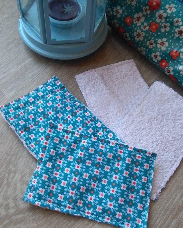 C' est rapide et c' est bon pour la planète 😉..de nouvelles lingettes lavables toutes propres, toutes belles pour la rentrée #coutureaddict #couture #lingetteslavables #lingettesnettoyantes #diyproject #diy #faitmain #instadiy #homemade