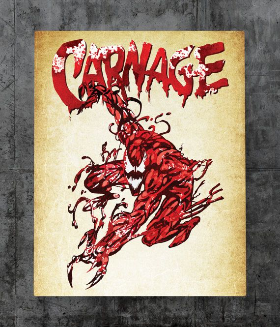 Carnage  Cletus Kasady Metal Plate by UncannyPrints on Etsy