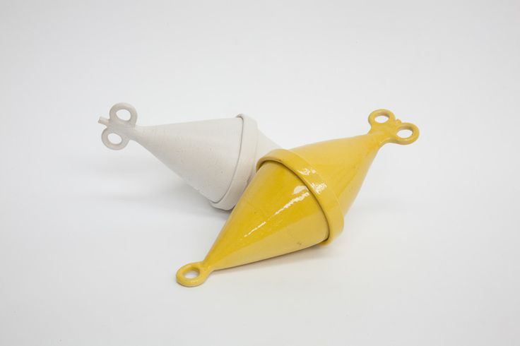 White and Yellow Buoys
