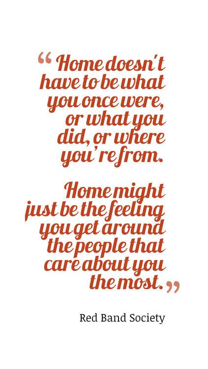 Concept of home - Red Band Society