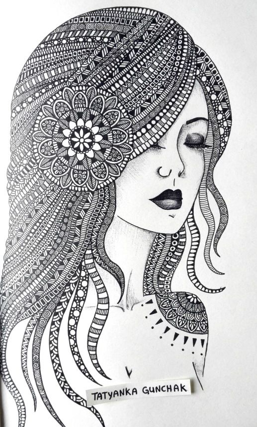 zentangle by tatyanka gunchak on deviantart mandala drawingart therapysimple drawingsdoodle sketchzentanglespapercuttingcolouringcoloring bookscolor art - Simple Therapeutic Coloring Pages