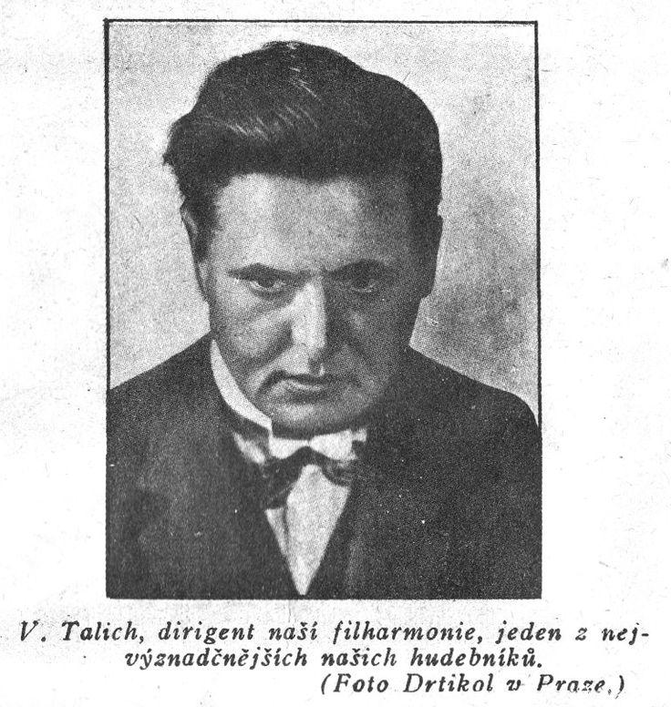 V. Talich, dirigent naší filharmonie (Foto Drtikol)