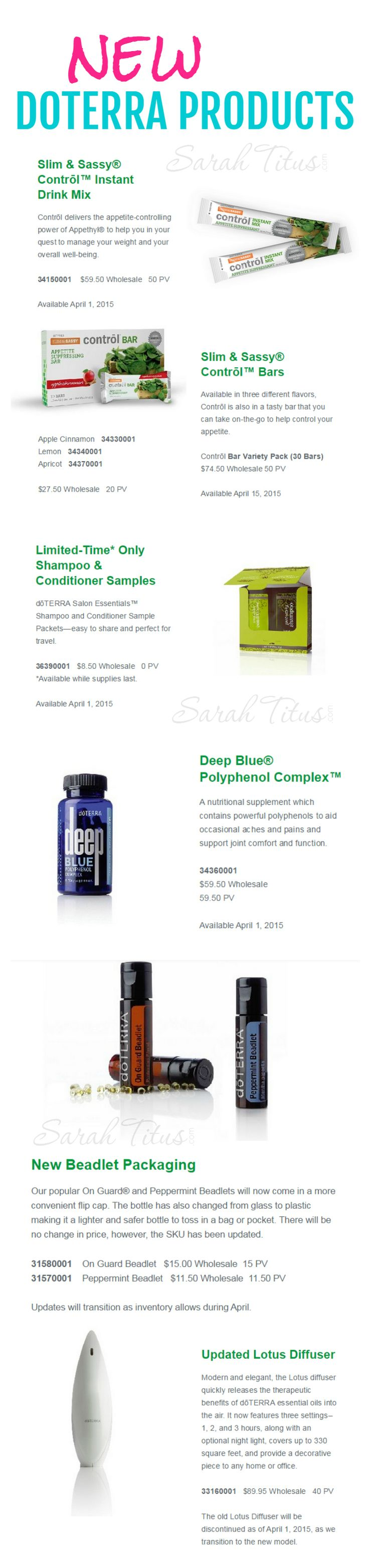 doTerra's New Products 2015 (Available in April)