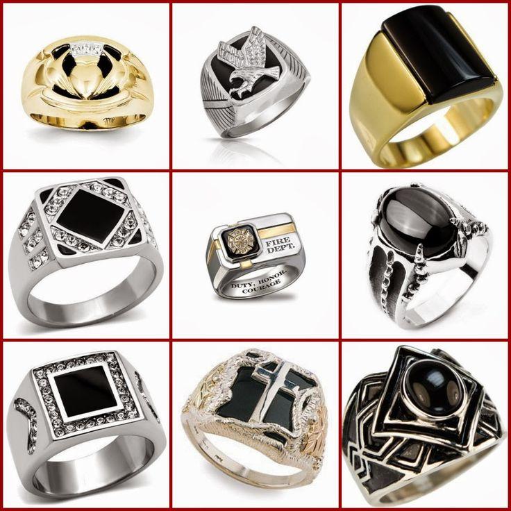 Mens Onyx Ring Black Onyx