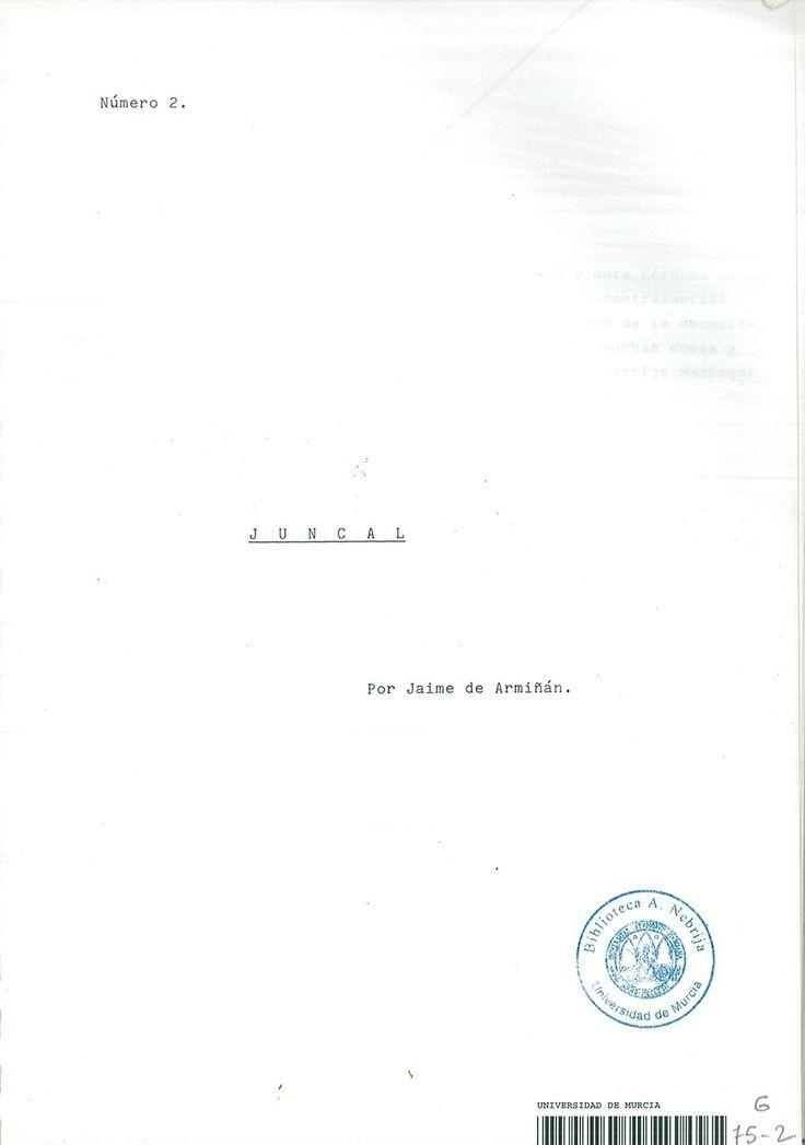 Portada guión -Juncal- (1989)
