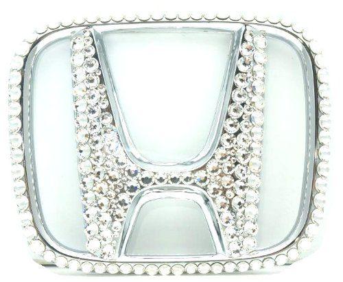Grandioso SEHM0007 Bling Pros Custom Handmade Honda Emblem with Swarovski Crystals