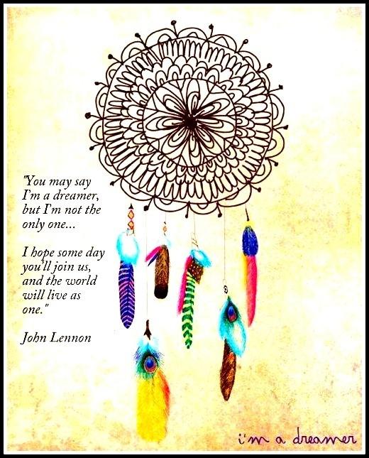 John Lennon inspired #dreamcatcher