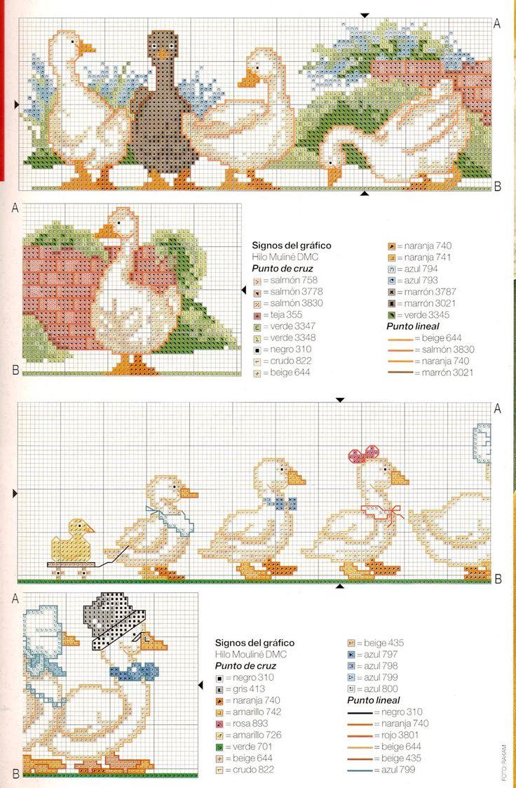 geese cross stitch