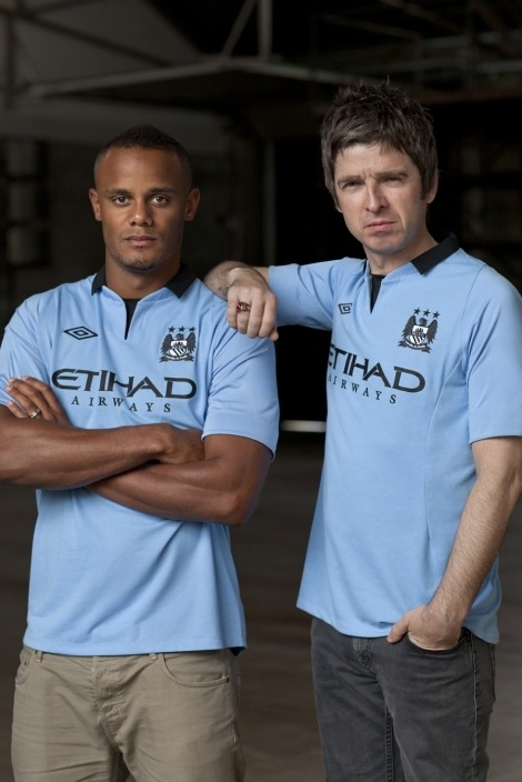 Manchester City home kit for 2012/13 - by Vincent Kompany and Noel Gallagher!