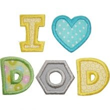 For Father's Day!: Machine Embroidery Appliques, Applies Designs, Baby, Dad Applique, Embroidery Designs