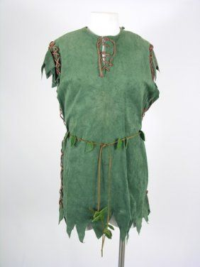 Lot: 295: Peter Pan Costume, Lot Number: 0295, Starting Bid: $50, Auctioneer: Premiere Props, Auction: Hollywood Auction Extravaganza VIII, Date: December 8th, 2012 EST