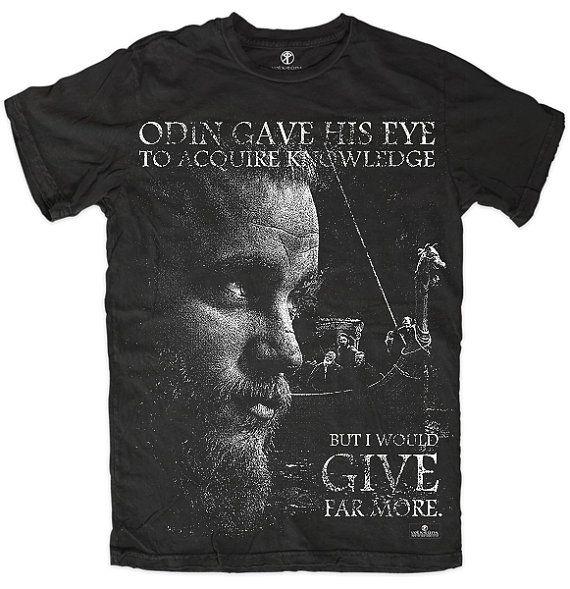T-shirt Vikings Ragnar Lothbrok History Tv Show Inspired Viking Odin Wotan Asatru Witchcraft Runes Raid Blackcraft Vanatru Drakkar Floki