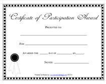 editable certificates of participation awards