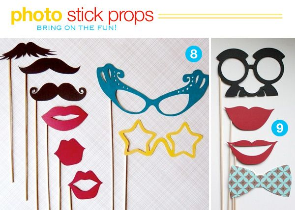 Wedding Photo Booth Props Mustashe Lips And Glass Set