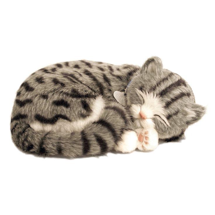 Tıpkı gerçek gibi...  Sevimli yavru kedi tıpkı gerçek bir kedi gibi nefes alıp veriyor ve yumuşak yatağında usluca uyumaya devam ediyor. Arada sırada fırçası ile onu taramanız yeterli.  Uyku minderi, isimlikli tasması, fırça, evlat edinme sertifikası kutusunda yer alıyor.   1 adet D alkalin pil ile yaklaşık dört ay çalışır. (Pil dahildir)  ASTM Uluslararası F 963 ve CPSIA Oyuncak Güvenlik Gereksinimleri'ne uygun olarak üretilmiştir.