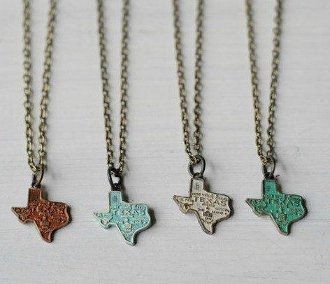 Texas Charm Necklace by gleefulpeacock on Etsy, $18.00 sigh, I miss Texas