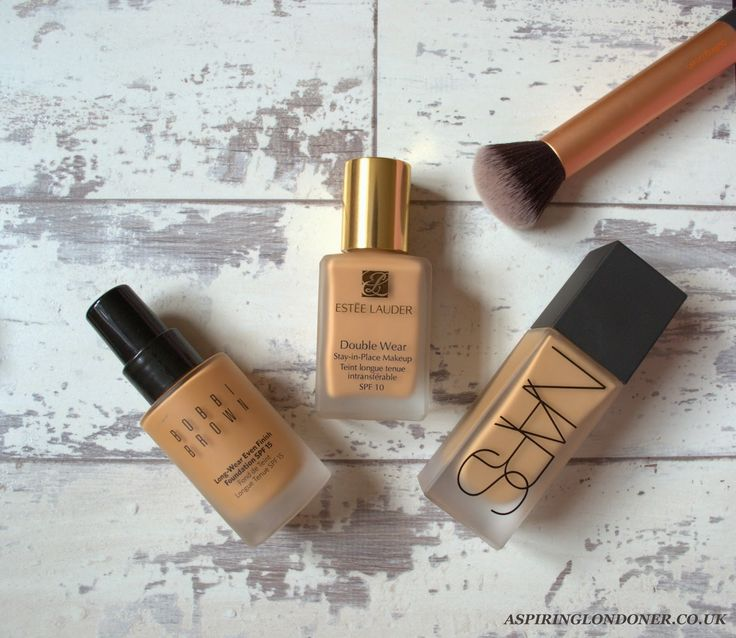 Best Foundations For Oily/ Combination Skin ft Nars All Day Weightless Luminous Foundation, Bobbi Brown Long-Wear Even Finish Foundation, Estee Lauder Double Wear Stay-In Place Foundation by Aspiring Londoner Blog