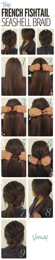 Casual hairstyle with seashell braid hairstyle for medium length to long hair. | thebeautyspotqld.com.au