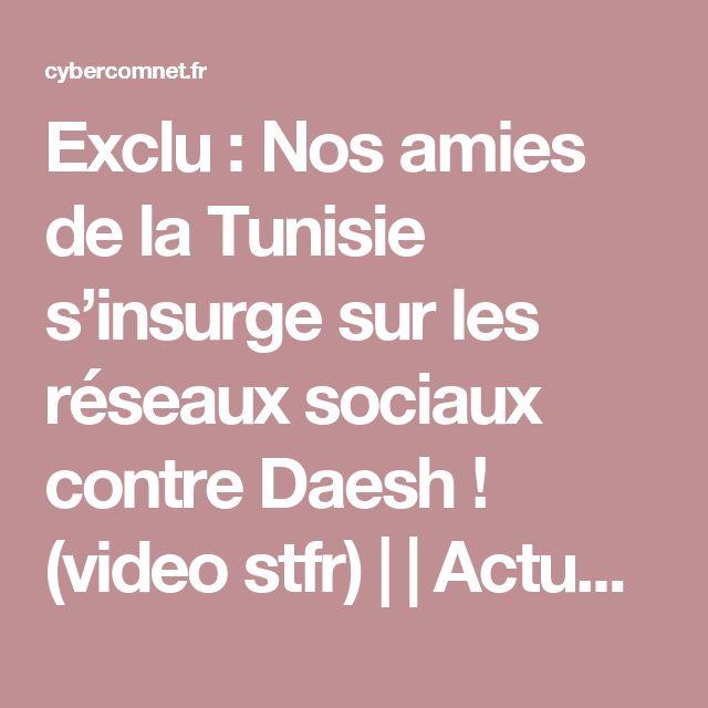 Exclu : Nos amies de la Tunisie s'insurge sur les réseaux sociaux contre Daesh ! (video stfr) | | Actualité Cybercomnet, l'actualité défend la démocratie,
