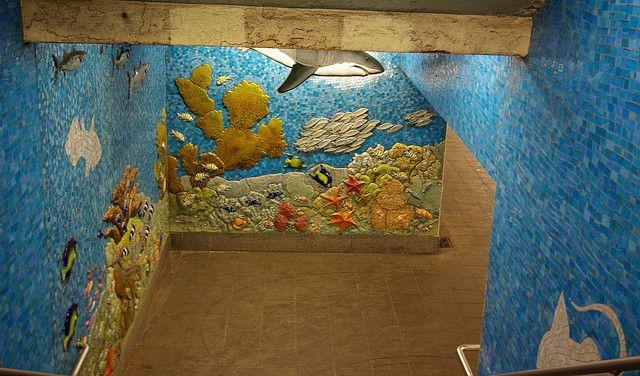 81st Street Subway Mural by Ed Hagelstein, via Flickr