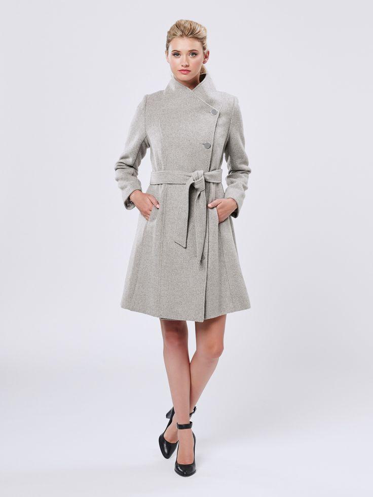 Fernanda Coat in Ice Marle